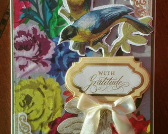 """WITH GRATITUDE Card - Blank inside - Use for Thank You or Thanksgiving Card - 5""""x7"""" - Free Shipping"""