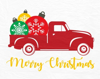 Christmas Truck SVG,Christmas Tree Truck svg, Christmas SVG, Merry Christmas SVG, Cricut Cut Files, Sihouette Cut Files