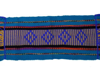Mapuche weave (Turquoise, blue, yellow, black)