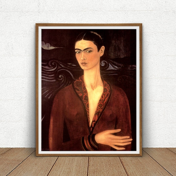 frida kahlo selbstbildnis druckbare frida kahlo digital. Black Bedroom Furniture Sets. Home Design Ideas