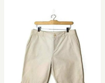 ON SALE Ralph Lauren Light Beige Cotton Shorts from 90's/W30*