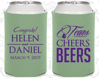Sage Green Wedding, Sage Green Can Coolers, Sage Green Wedding Favors, Sage Green Wedding Gift, Sage Green Party Decor (462)