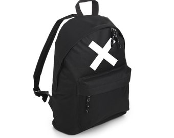 Cross Backpack School Bag Rucksack Sports Travel Tumblr Funny Hipster Grunge Fun Festival Retro Vtg Goth X Kawaii Cute Fashion Band Fcuk