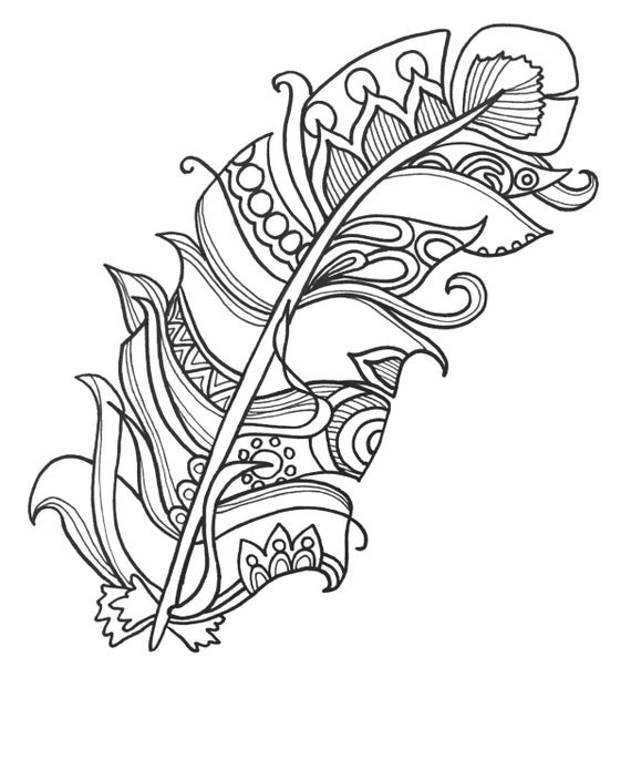 coloring pages of feathers 10 fun and funky feather coloringpages original art coloring