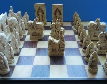 THE CHARLEMAGNE CHESSMEN,--in Bone and Ivory finish