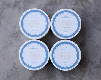 FOUR Coastal Calm Salt Scrub || FREE SHIPPING / handmade salt scrub / dead sea salt / sweet almond oil / exfoliating / moisturizing / relax