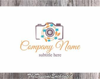 Premade Logo Design and Watermark Camera Logo Photography Logo Wreath Logo Elegant Logo Custom Logo Business Logo Logo Designer