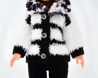 Pattern jacket and pants for doll