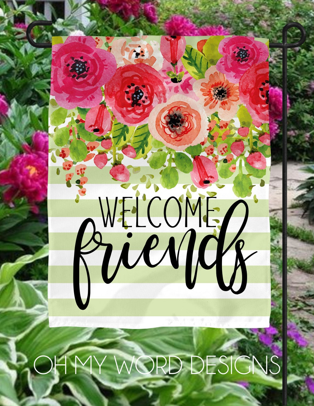 Garden Flag-Personalized Flag-Welcome Flag-Welcome