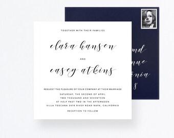 Handwritten Wedding Suite, Wedding Card Set, Square Invitation, Wedding Handwritten Invitation, Wedding Square Invite, Pdf Wedding Sationery