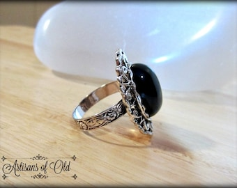 Victorian Black Onyx Ring
