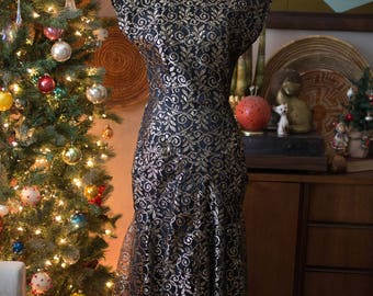 Vintage 80's Evening Dress with Pockets