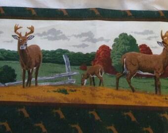 Scenic Deer, fabric strips