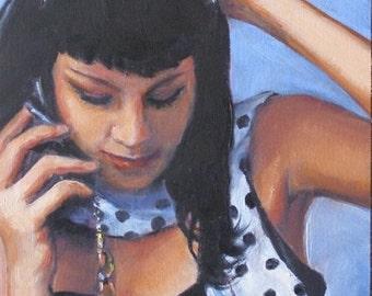 Accessorized, 6x8 Original Oil Painting