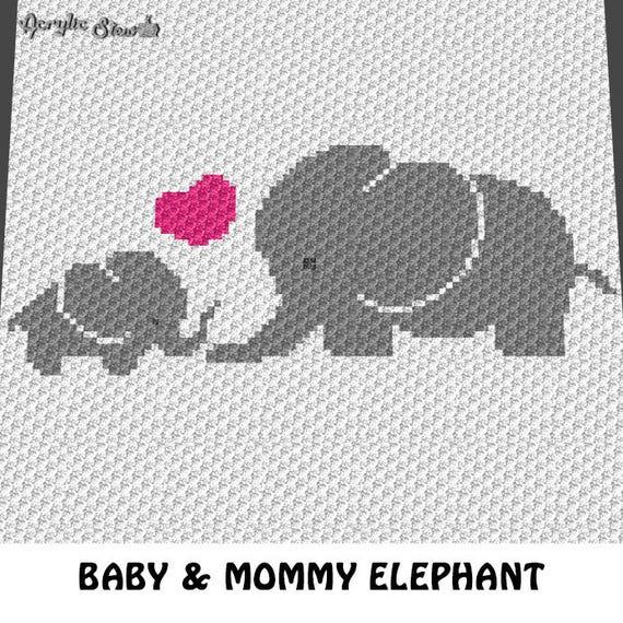 graphgan pattern corner to corner c2c baby elephant and
