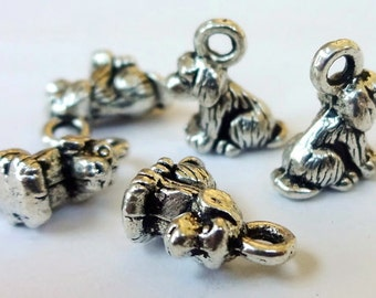 10 Dog Charms (3D) 11x7.5mm Item:D12