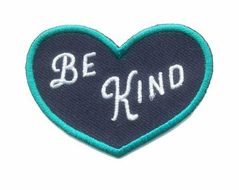 Be Kind Patch - Mindfulness and Kindness Iron on Patches