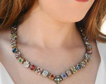 Victorian Wedding Necklace, Vintage Bridal Necklace, Renaissance Necklace, Bride Necklace, Bridal Jewelry, Wedding Jewelry, Vintage N636