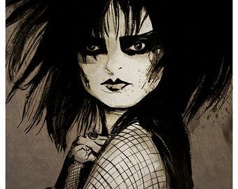 Siouxsie Sioux portrait - A4 colour art print