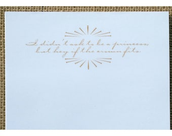 Quote Notepad - Funny Quote with Sunburst Graphic Notepad - Personal Note Pad - Vintage Graphic - Princess Notepad - If the crown fits