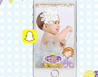 Sofia the First Snapchat GeoFilter, Birthday Snapchat Filters, Party Snapchat Filter, Princess Sofia Snapchat GeoFilter, Birthday Party