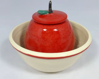Apple Bowl and Honey Pot for Rosh Hashanah