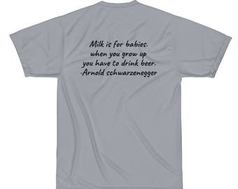 Performance T-Shirt with Quote on the back of the shirt