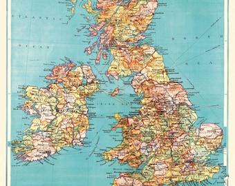 Cavallini British Isle Map Paper
