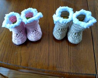 Creative Crocheted Baby Booties