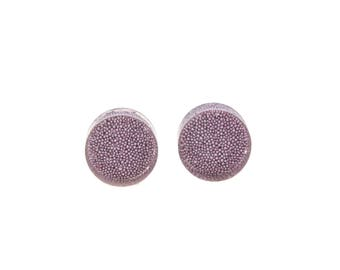 "Lavender Bead Plugs - Sizes 11/16"" inch and 1"" inch Gauges Only - Handmade Resin Body Jewelry"