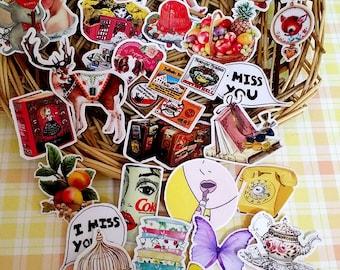 Scrapbook Sticker --Filofax Stickers--Planner Stickers--Vintage Stickers