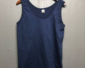 M Deadstock thin vintage 80s Blank screen stars tank top t shirt