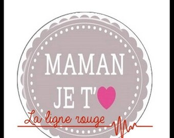 Mama ICH Liebe Dich (1881) - Cabochon with or without stand depending on your choice - Etsy
