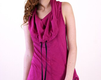Orchid Cotton Sleeveless Cowl Neck Top