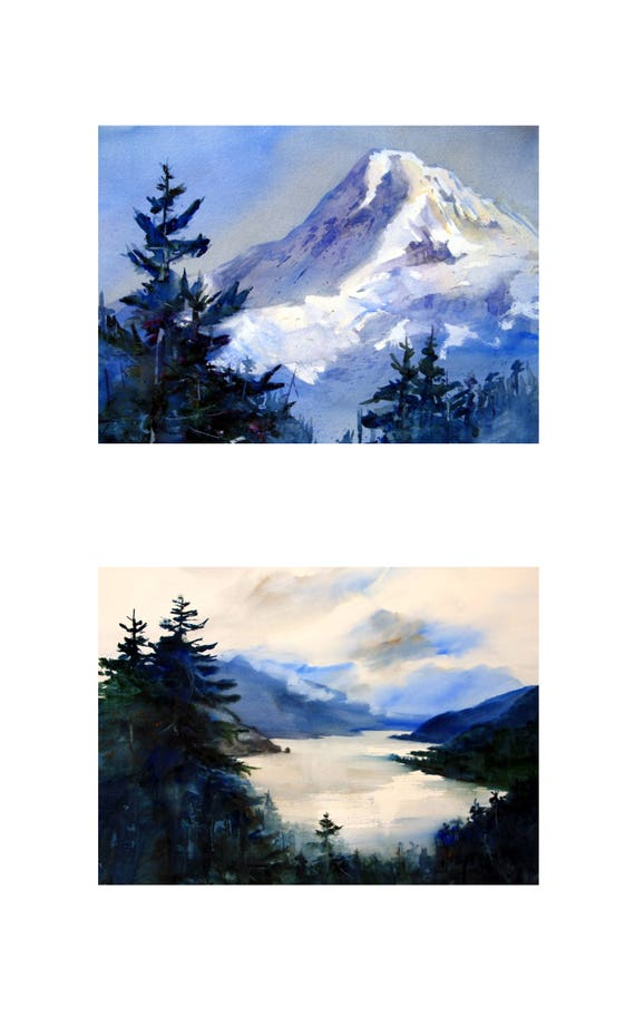 10x 16 2 matted and or framed prints of Mt. Hood and the Columbia Gorge by Bonnie White