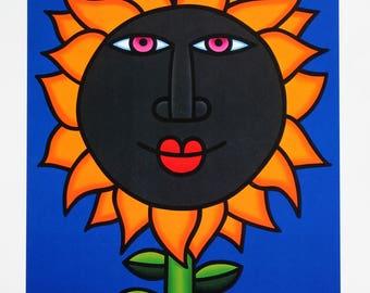 Joe Average Hand Signed Numbered Limited Edition Sunflower 1998