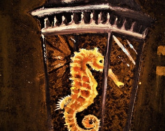 Seahorse lantern print
