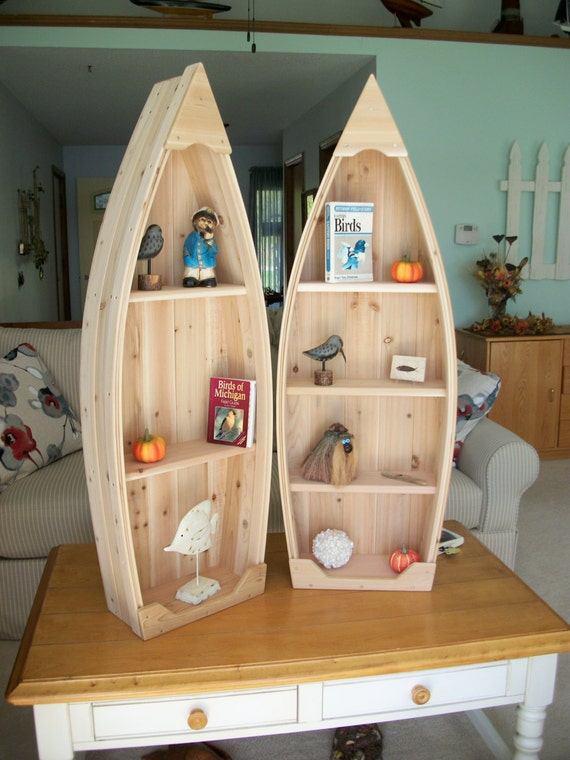 Handmade Unfinished Boat Shelves Made by PoppasBoats