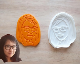 Personalized Portrait Cookie Cutter and Stamp Set. Wedding Cookie Cutter. 3D Printed. Custom Cookies. Portrait Cookie. Valentine's Day