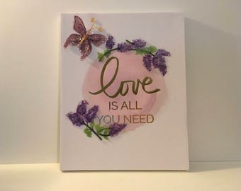 Canvas Art- Love is all you need-decorated