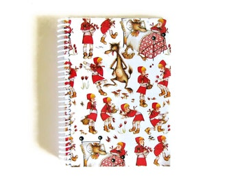Red Riding Hood A5 Notebook Spiral Bound - Writing Journal, Blank Sketchbook Back to School Small 5x7 Inches Cute Baby Shower Gifts Under 25