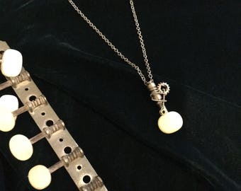Classical Axe - Tuning Peg Pendant Necklace