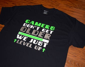 I Don't Get Older Shirt, Gaming Shirt, XBOX Shirt, Video Game Shirt, Gamer Birthday Shirt, Level Up Shirt, Gamer XP Shirt, Funny Gamer Shirt