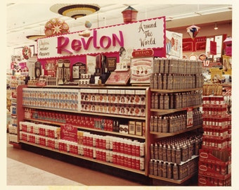 vintage photo Instant Download REVLON Hair Color Hair spray Drugstore Display Color  Beauty Shop Products digital download
