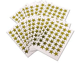 700 Gold Coloured self-adhesive stars.