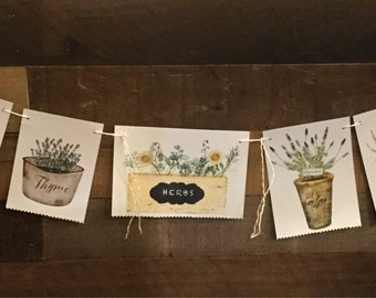 Herbs in Pots Decor Banner