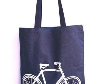 BIKE - Eco-Friendly Market Tote Bag - Hand Screen printed (Ships FREE!)