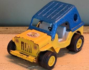 Very Rare Vintage 1970's TONKA JEEP Honey Bucket Truck Pressed Steel Diecast Dune Buggy Construction Toy Monster Truck Speed Buggy