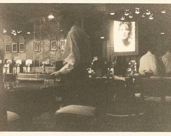 "Vintage Snapshot ""Closing Time"" Bar Restaurant Casino Bartender Waiters Found Vernacular Photo"