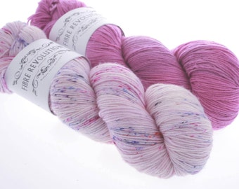 Color Mix ideas for your favorite Multicolor pattern - Hand dyed Yarn  - KISSES